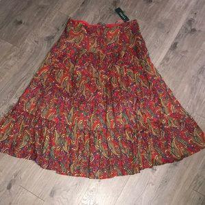 Ralph Lauren Tiered Maxi Skirt, BNWT